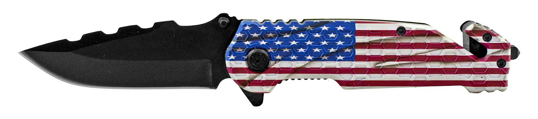 4.75 in Standard Hunting Pocket Folding Knife - United States of America Flag