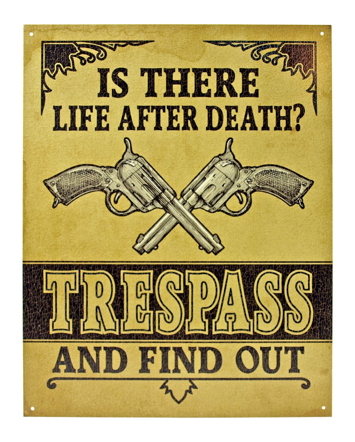 Life After Death? Trespass and Find Out - Trespassing Metal Tin Sign