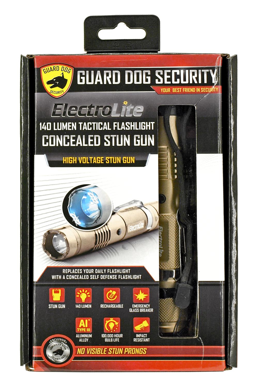 Guard Dog ElectroLite Stun Gun Flashlight - Desert Gold