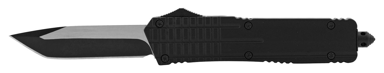 5.5 in Grip Tight Stainless Steel OTF Folding Pocket Knife - Black