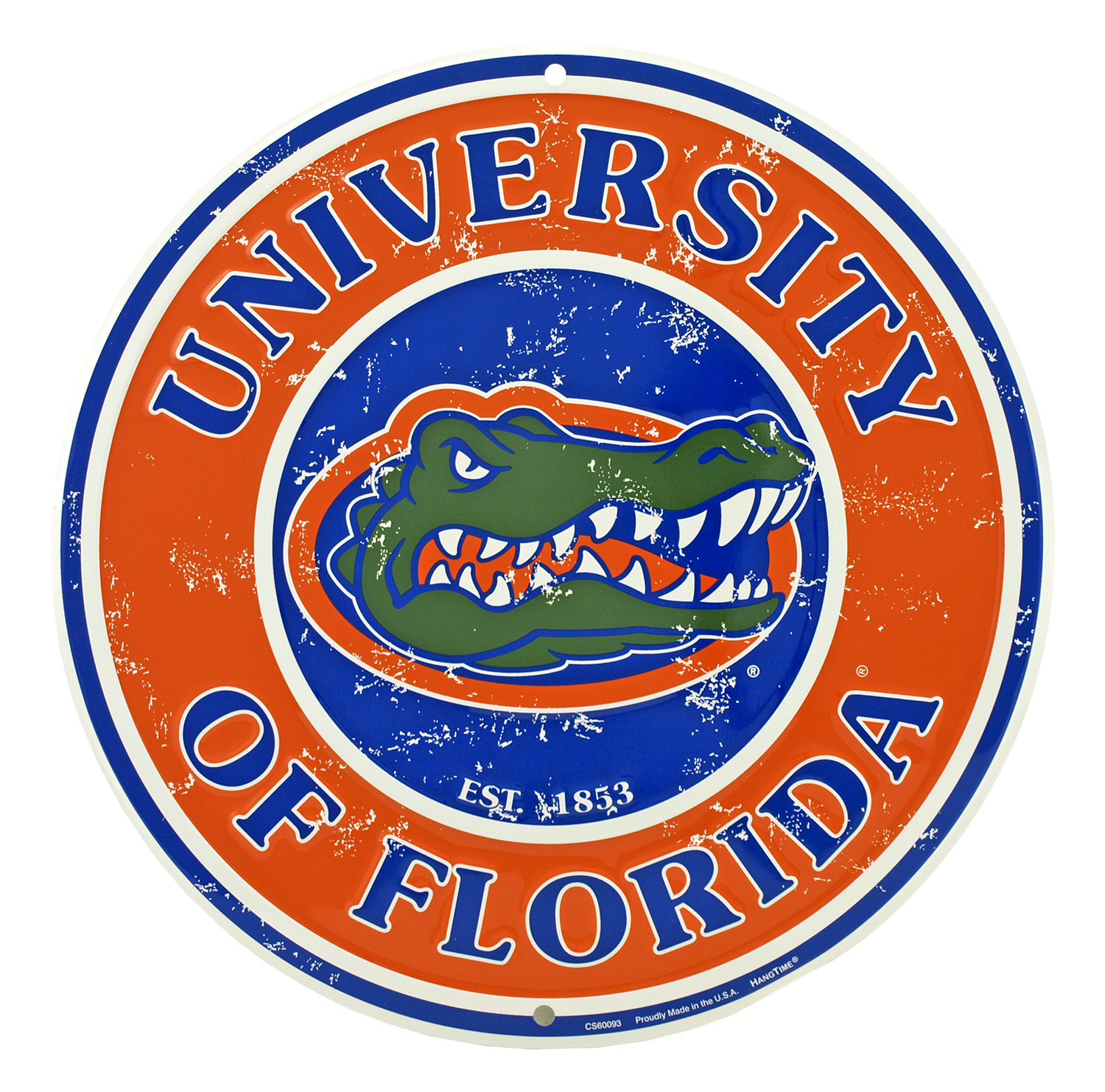 University of Florida Round Tin Sign