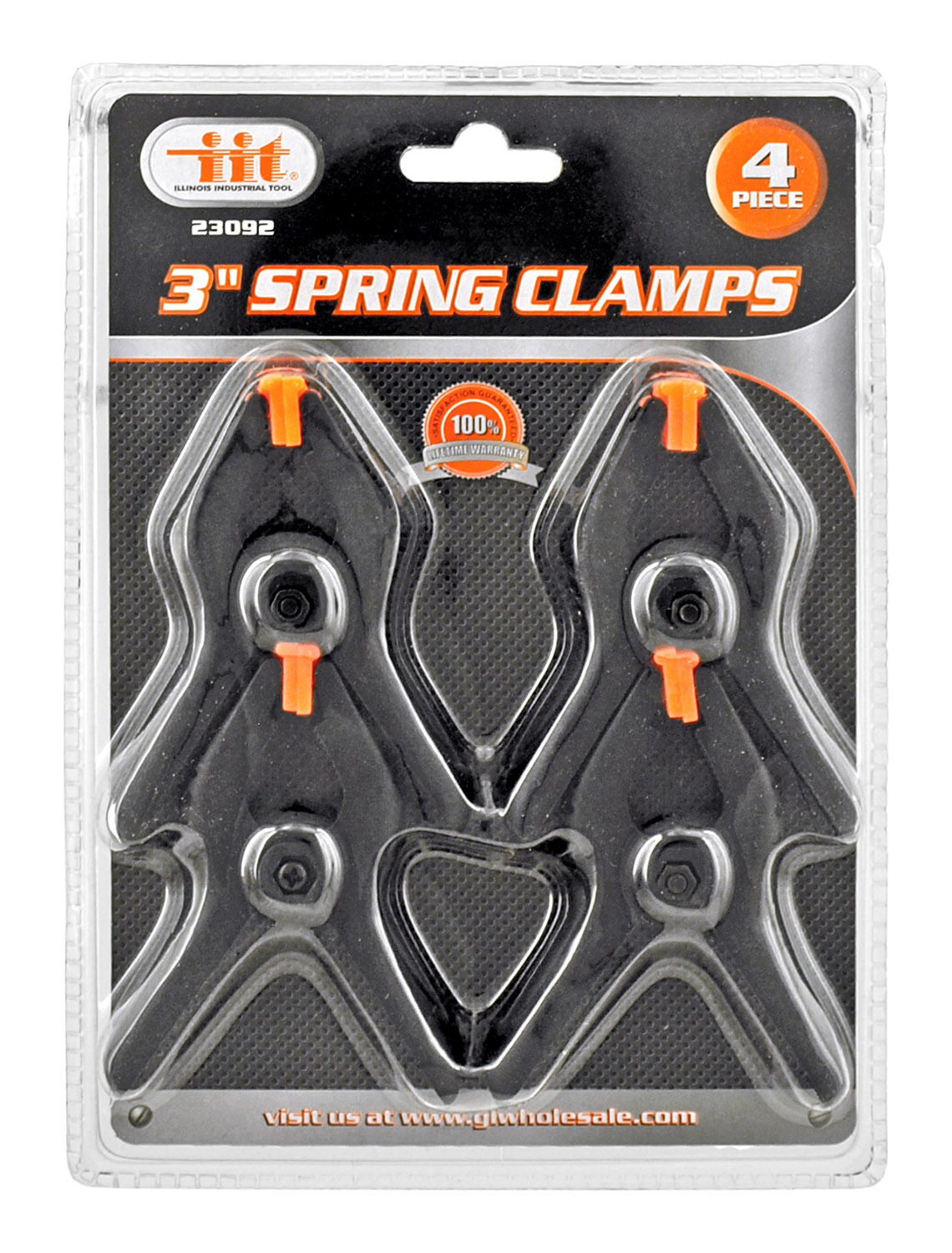 3 in Hand Spring Clamp Set of 4 pieces - Illinois Industrial Tool
