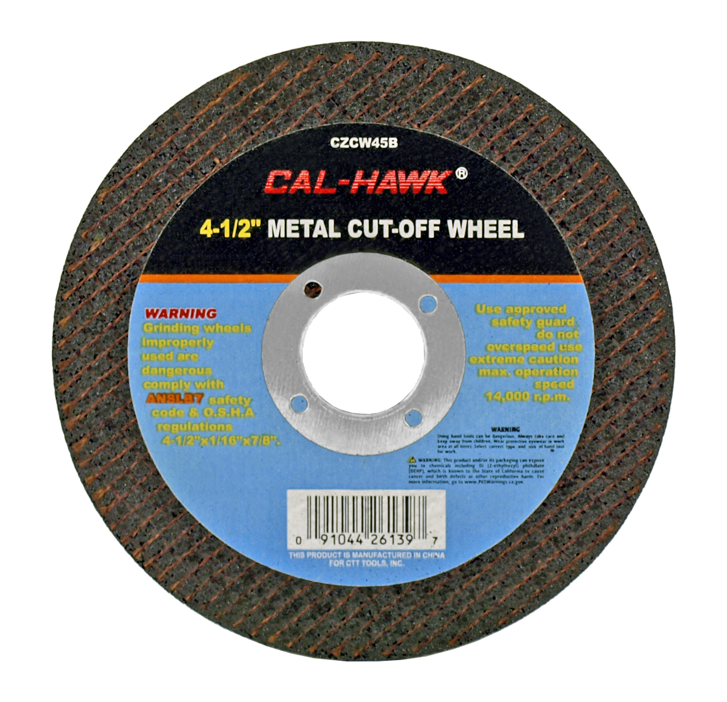 4-1/2 in Metal Cut-Off Wheel
