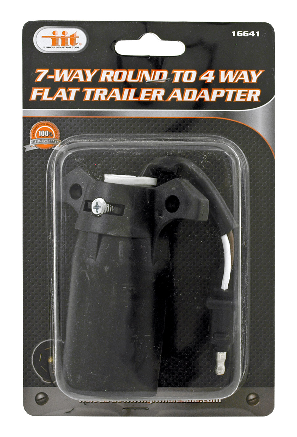 7 Way Round to 4 Way Flat Tow Trailer Hitch Mount Electrical Adapter Relay - IIT 16641