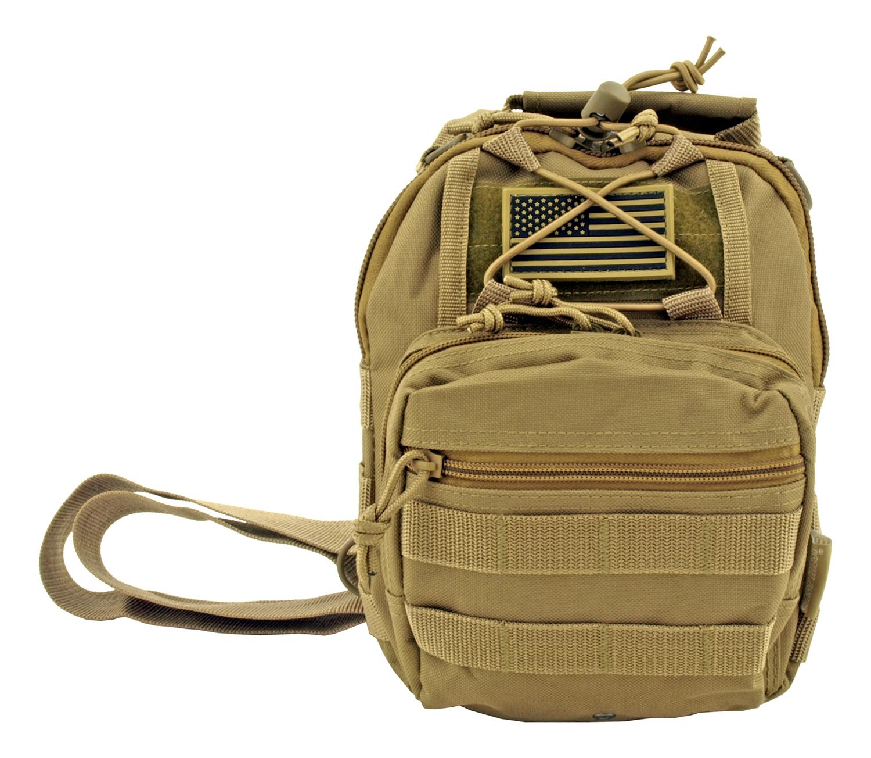 Concealed Carry Tactical Sling Bag - Desert Tan