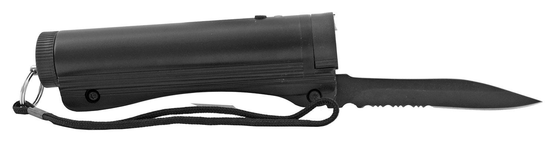 Monster Folding Pocket Knife Stun Gun with LED Flashlight - Black