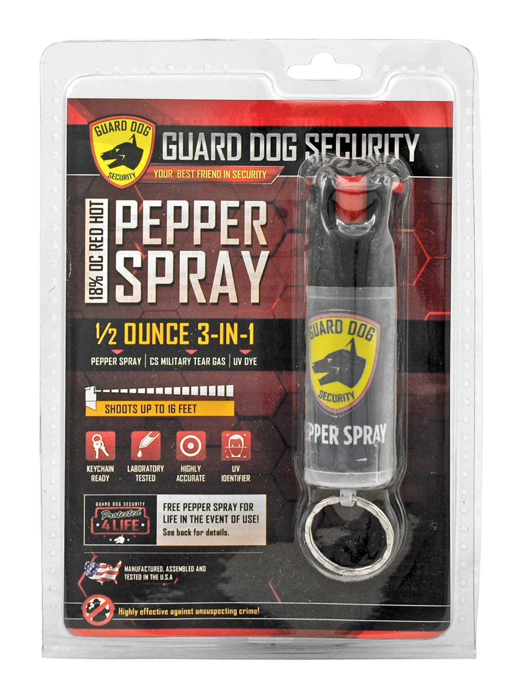 Guard Dog Security Twist Top Sleek 3 in 1 Pepper Spray with Keychain Holder - 1/2 oz.