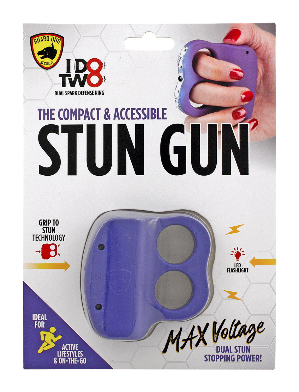 Guard Dog Security I Do Two Dual Grip Stun Gun Rings - Purple
