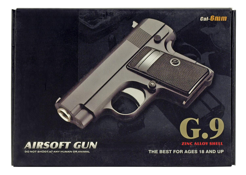 Metal Zinc Alloy G 9 Airsoft Pistol