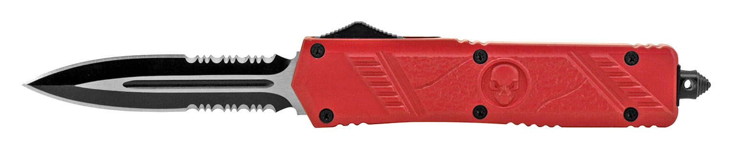 5.5 in Stainless Steel Out the Front Pocket Knife - Red