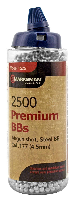 2500 ct. Marksman Premium Grade Steel .177 Cal. BB