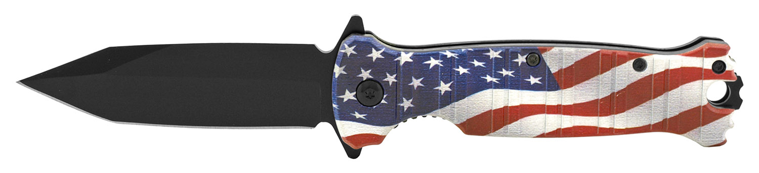 4.5 in Classic Folding Pocket Knife - United States Flag