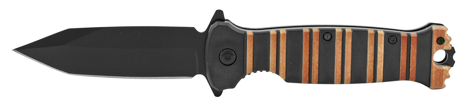 4.5 in Classic Folding Pocket Knife - Black and Wood