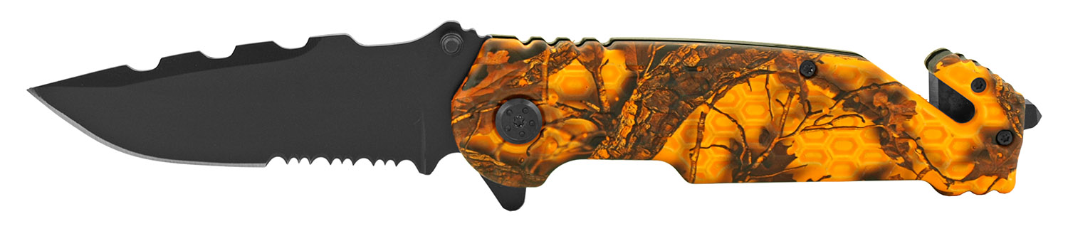 4.75 in Standard Hunting Pocket Folding Knife - Orange Woodland Camo