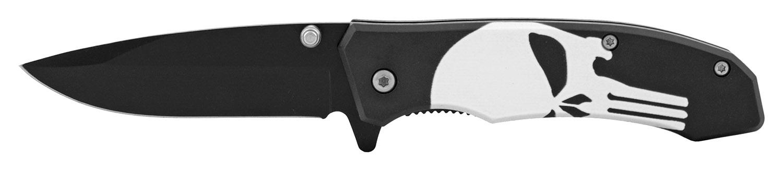 4 in Classic Style Folding Pocket Knife - Punisher Skull