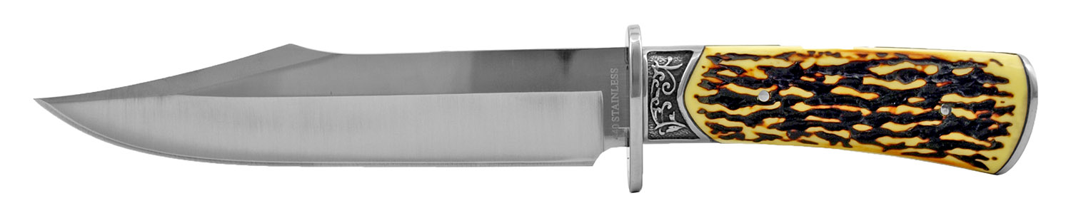 12 in Rocky Mountain The Ultimate Hunting Knife for Skinning and Fillet - Faux Bone Handle
