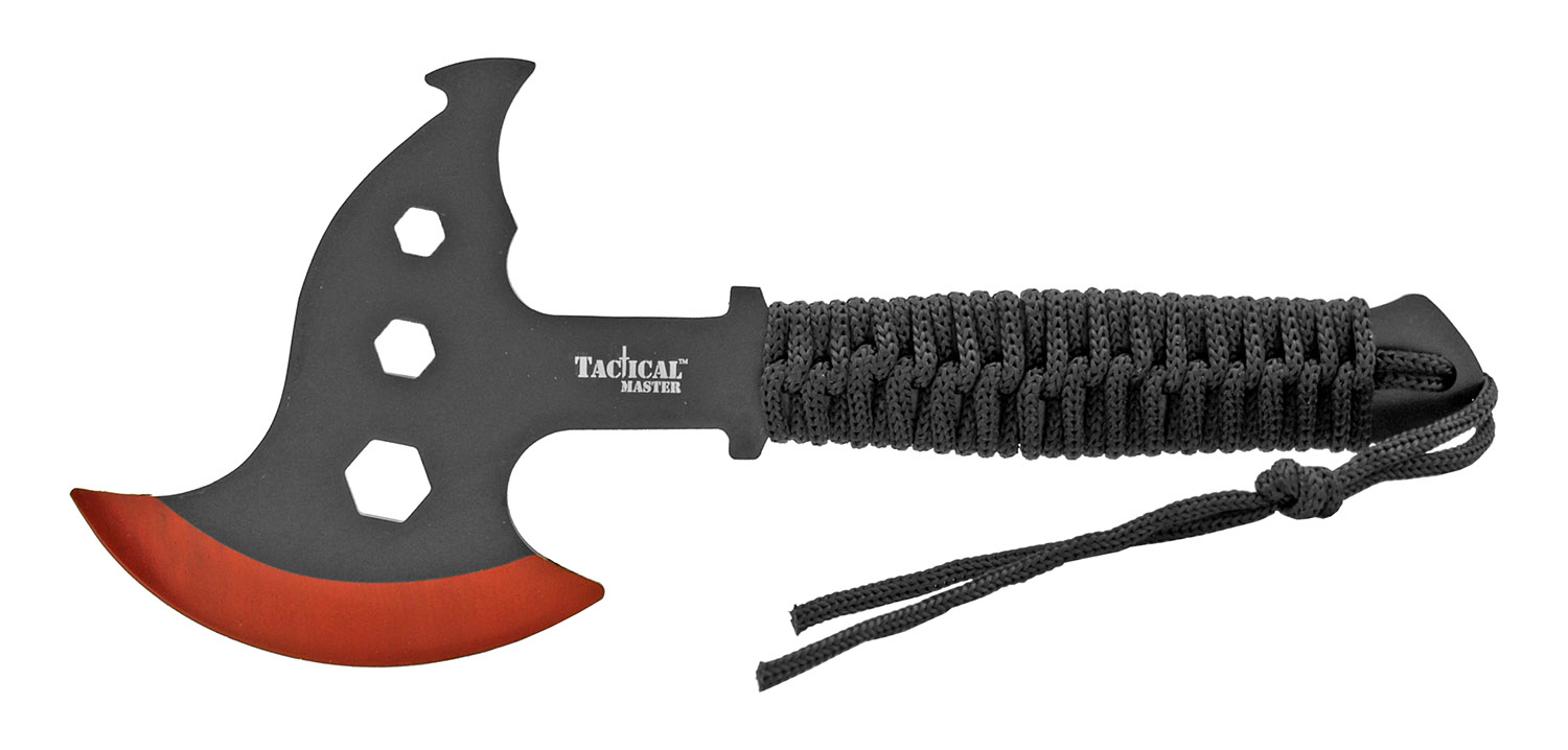 10 in Dual Full Tang Throwing Axe Set - Red