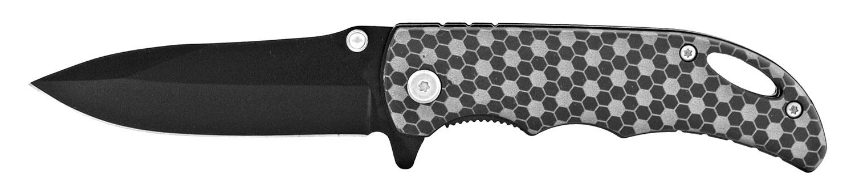4 in Folding Pocket Knife with Belt Clip - Carbon Fiber