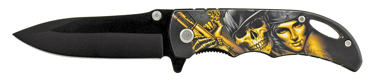 4 in Folding Pocket Knife with Belt Clip - Bonnie and Bones