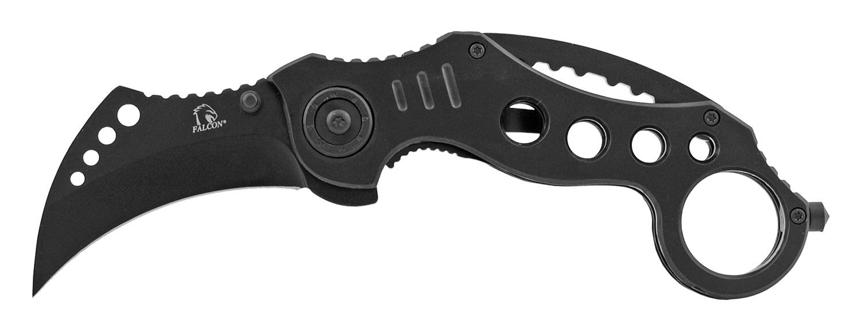 5 in Stainless Steel Karambit Fighting Folding Pocket Knife - Black