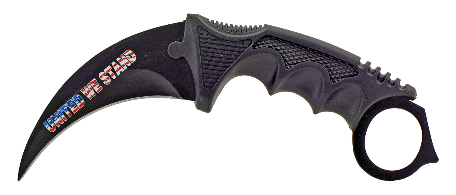 3 - pc. Tactical, Hunting, and Karambit Knife Set Collection - United We Stand American Flag