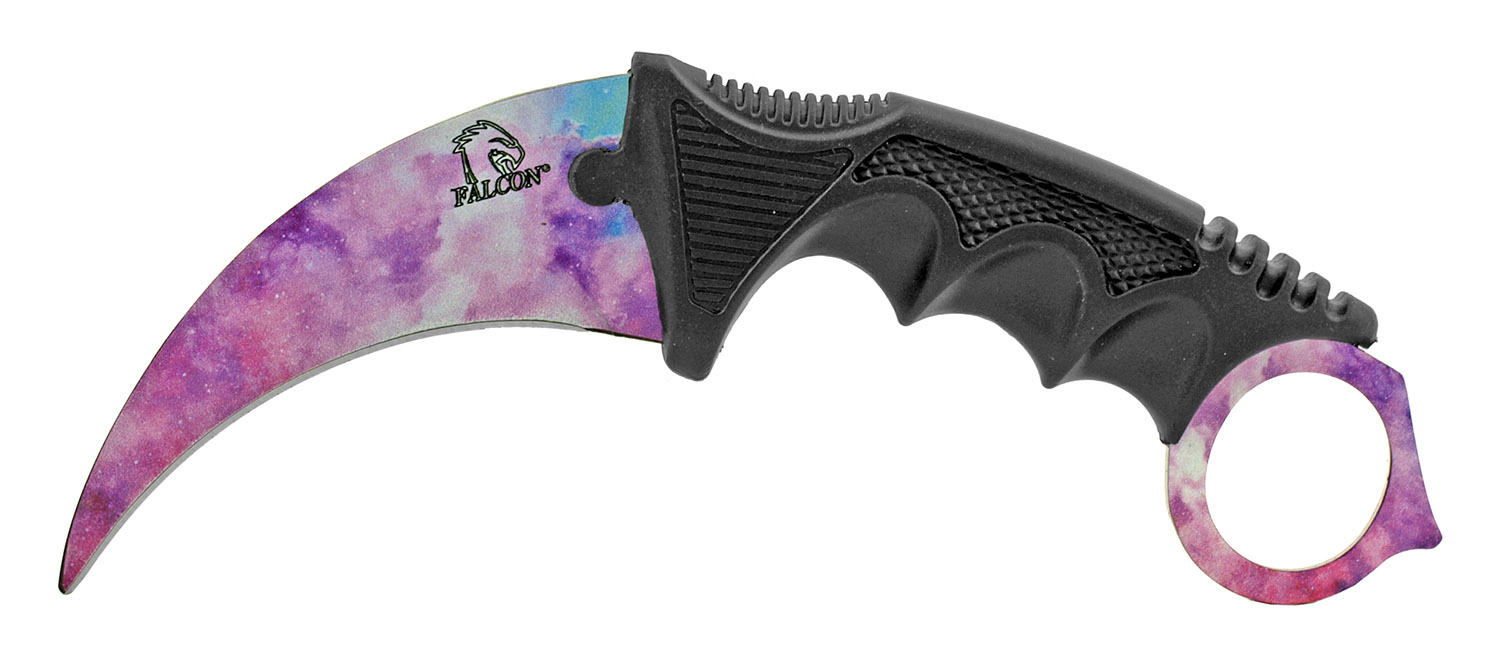 3 - pc. Tactical, Hunting, and Karambit Knife Set Collection - Pink Clouds