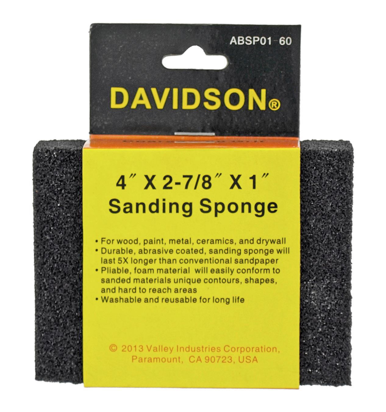 60 Grit 4 in x 2.88 in x 1 in Sanding Sponge - Davidson