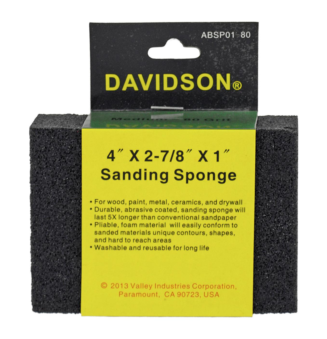 80 Grit 4 in x 2.88 in x 1 in Sanding Sponge - Davidson