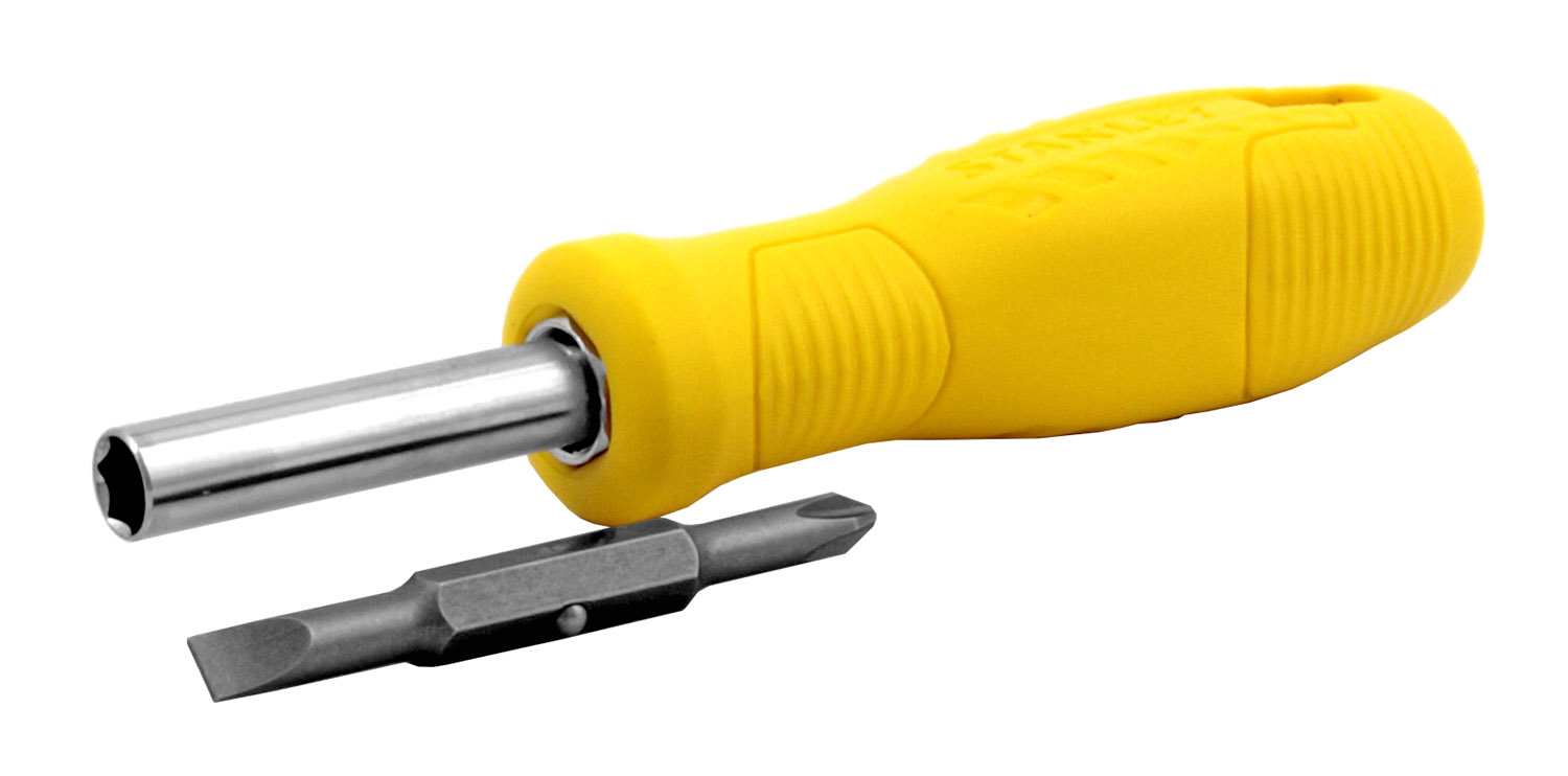 6-in-1 Stanley Phillips-head and Flat-head Reversible Screwdriver