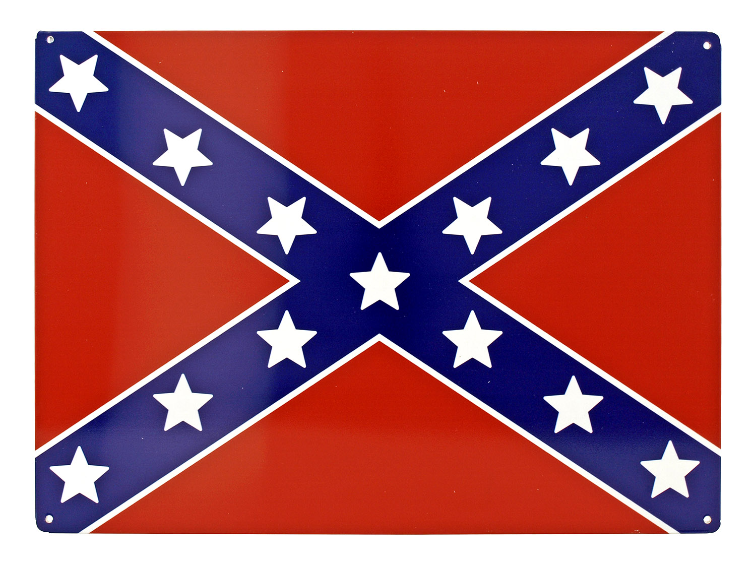 Confederate Flag Metal Tin Sign