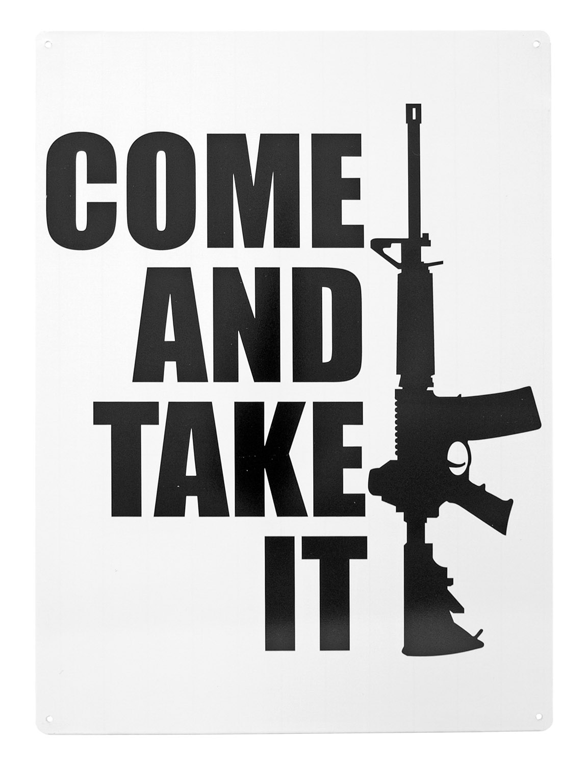 Come and Take it AR-15 Metal Tin Sign