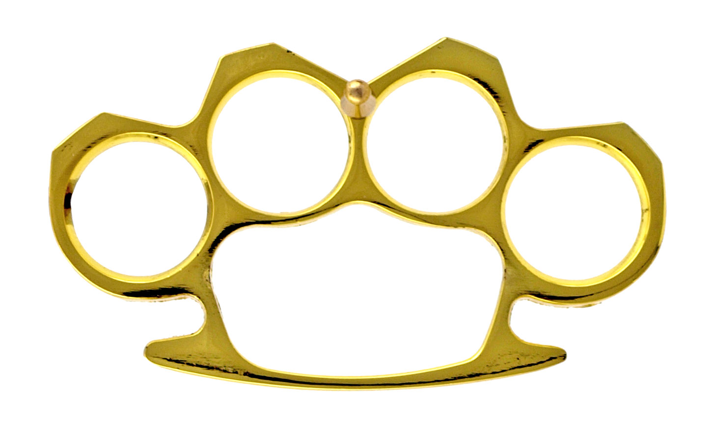 Brass Knuckle Styled Belt Buckle with Prong Attachment - Golden