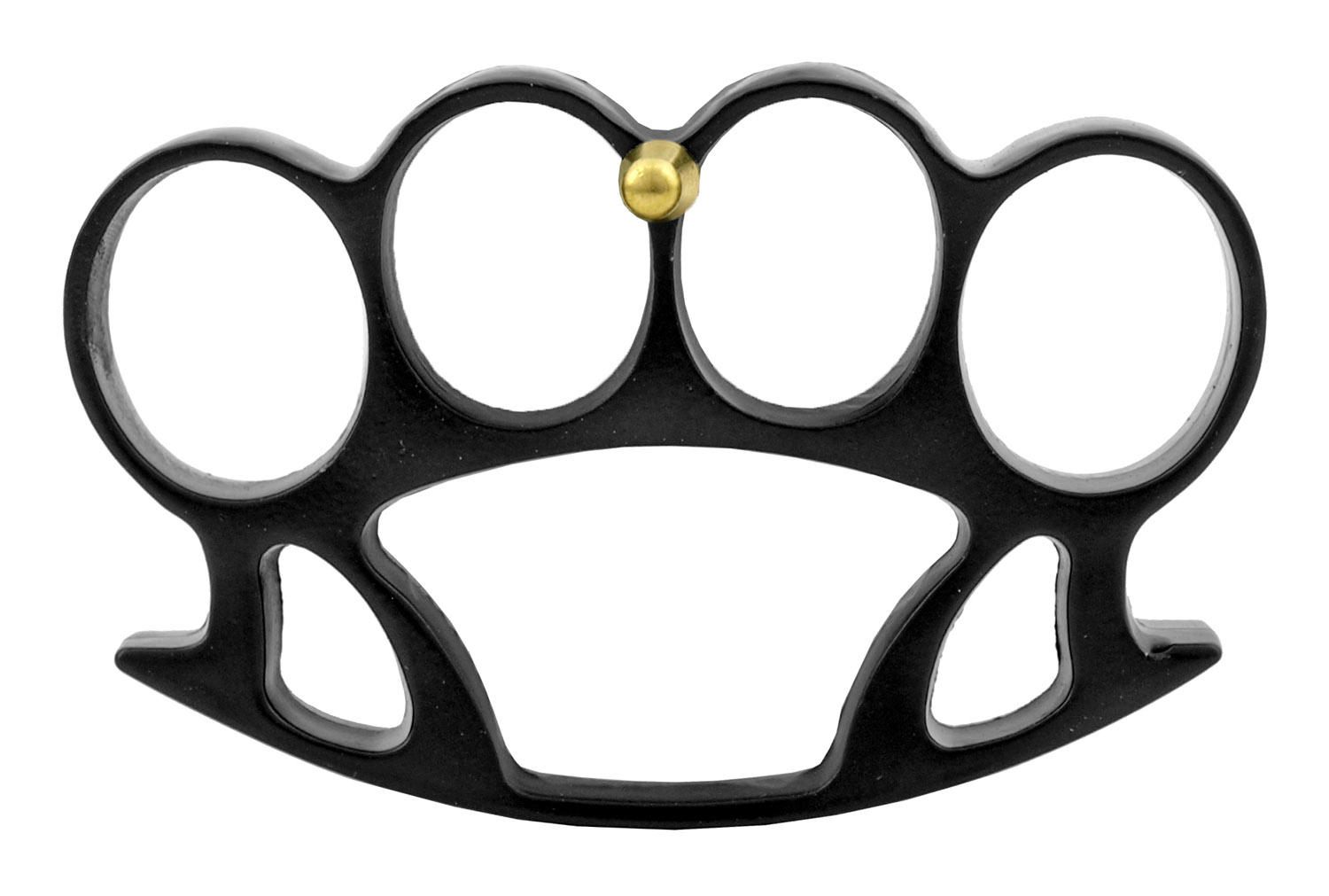 Brass Knuckle Duster Styled Belt Buckle with Prong Attachment - Black