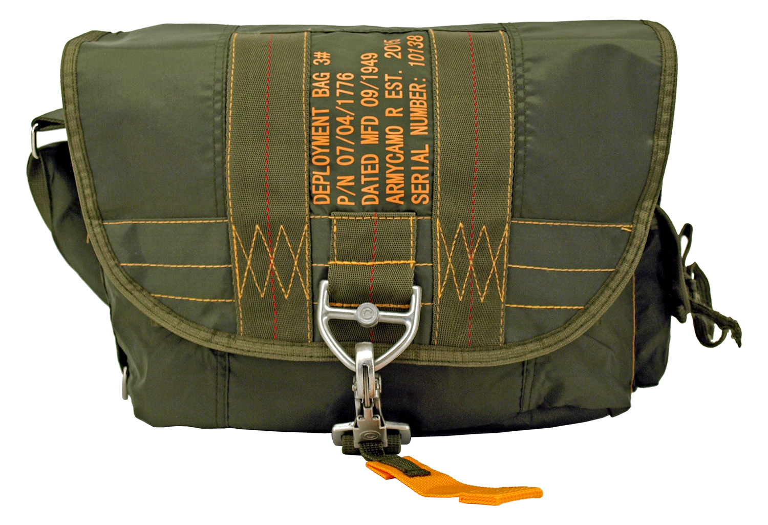 Tactical Parachute Satchel - Olive Green