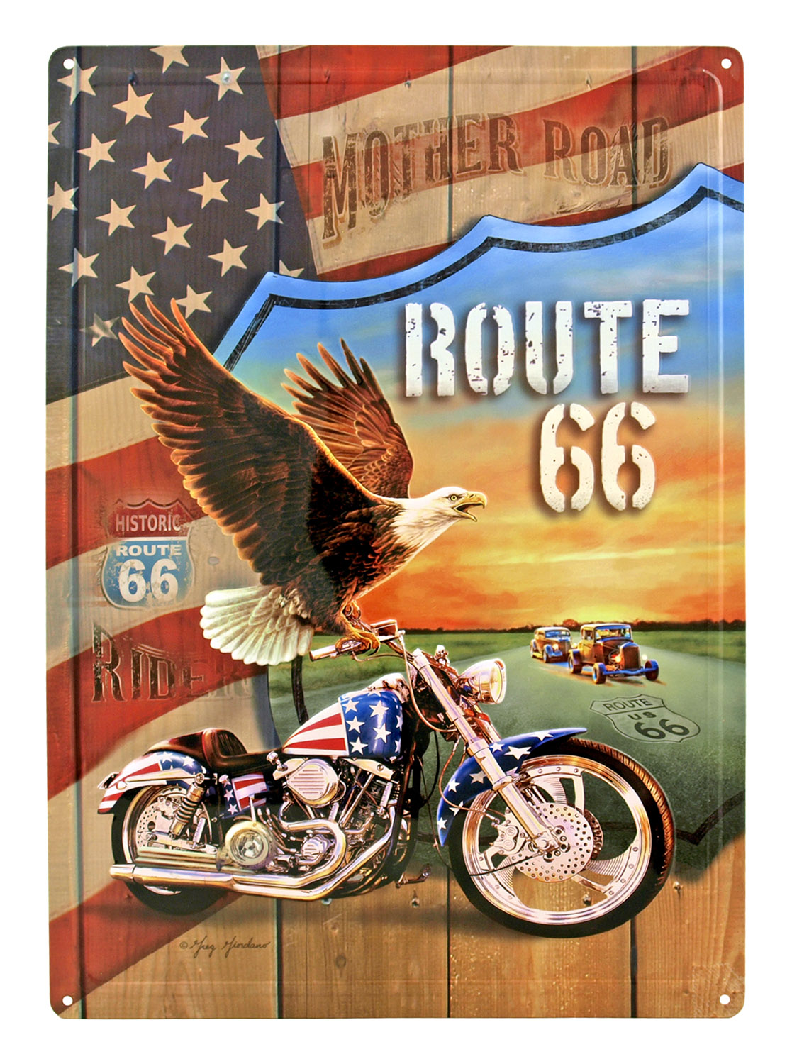 Route 66 Mother Road Metal Tin Sign