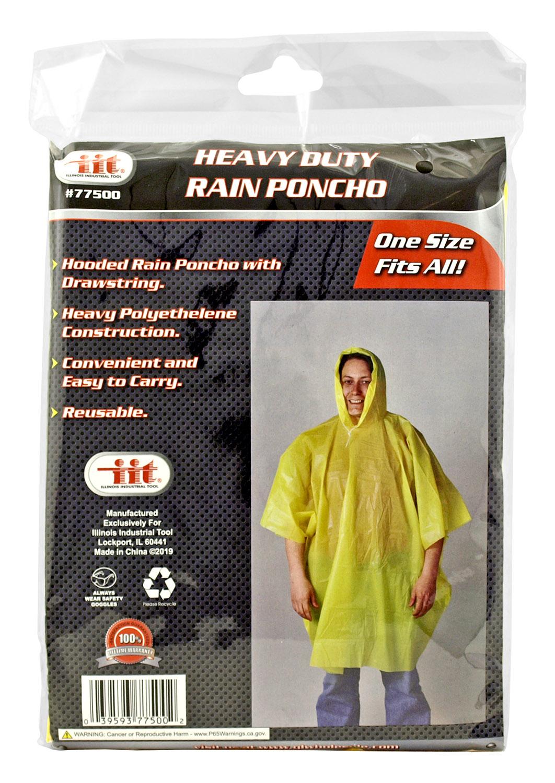 Heavy Duty Rain Poncho