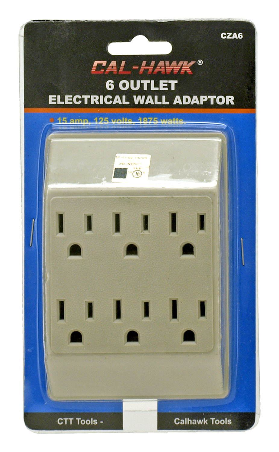 6 Outlet Wall Power Center