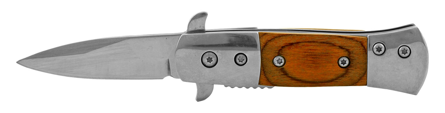 3.25 in Traditional Mini Western Folding Pocket Knife - Wooden