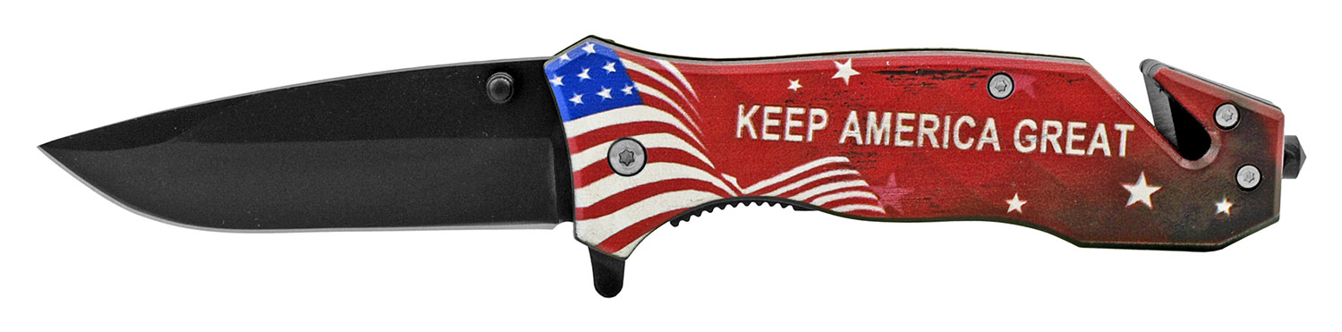 4.5 in Keep America Great President Trump Folding Pocket Knife - The 45th