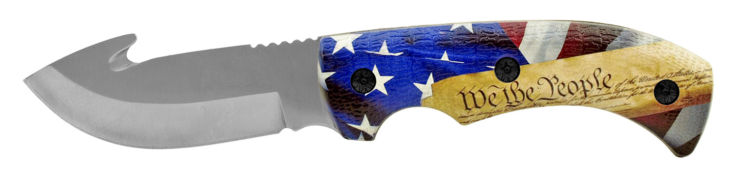 9 in Full Tang Stainless Steel Gut Hook Filet Hunting Knife - We The People
