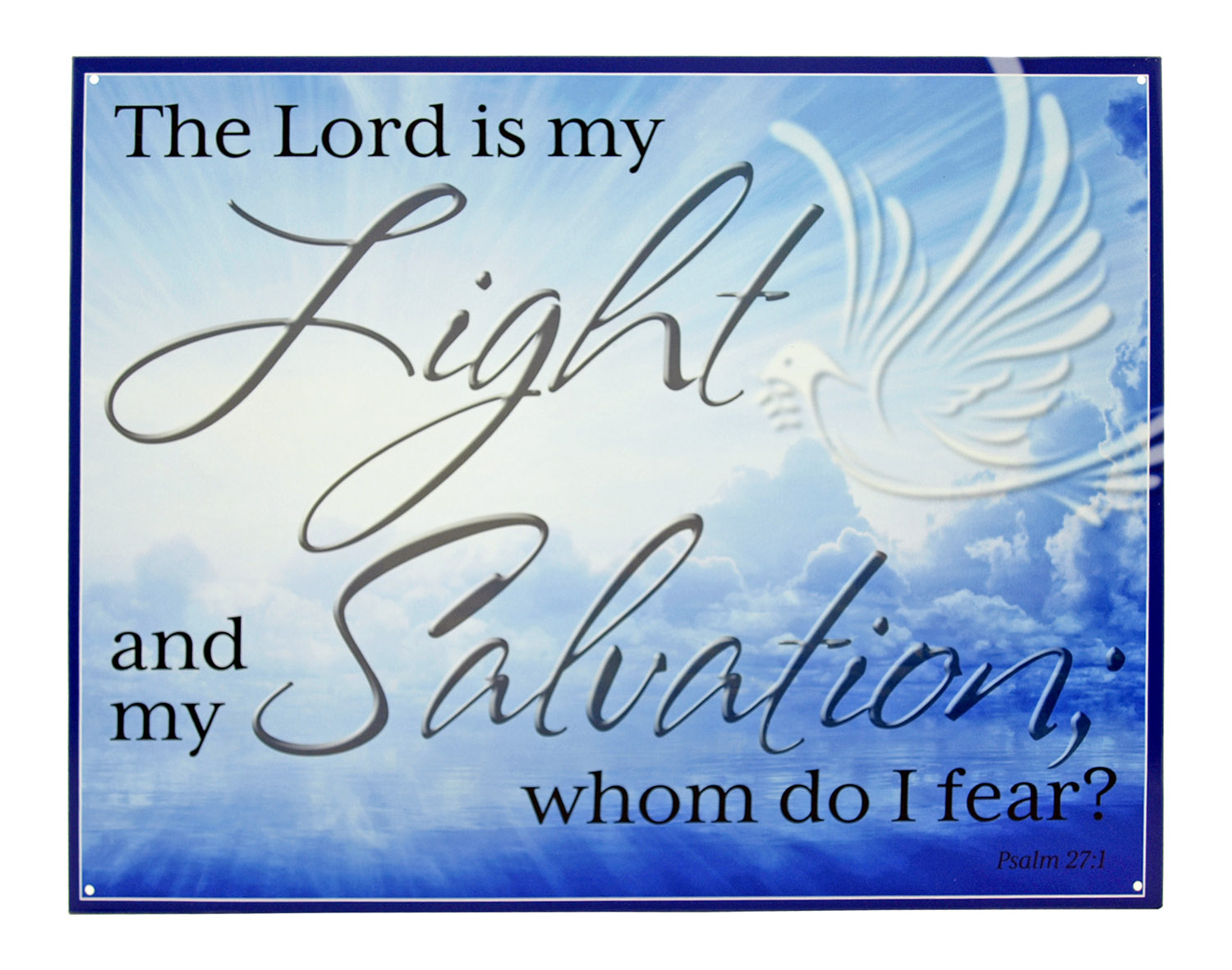 The Lord is my Light and my Salvation Christian Metal Tin Sign
