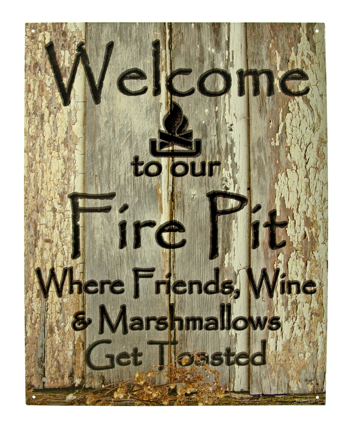 Welcome to our Fire pit Campground RV Metal Tin Sign