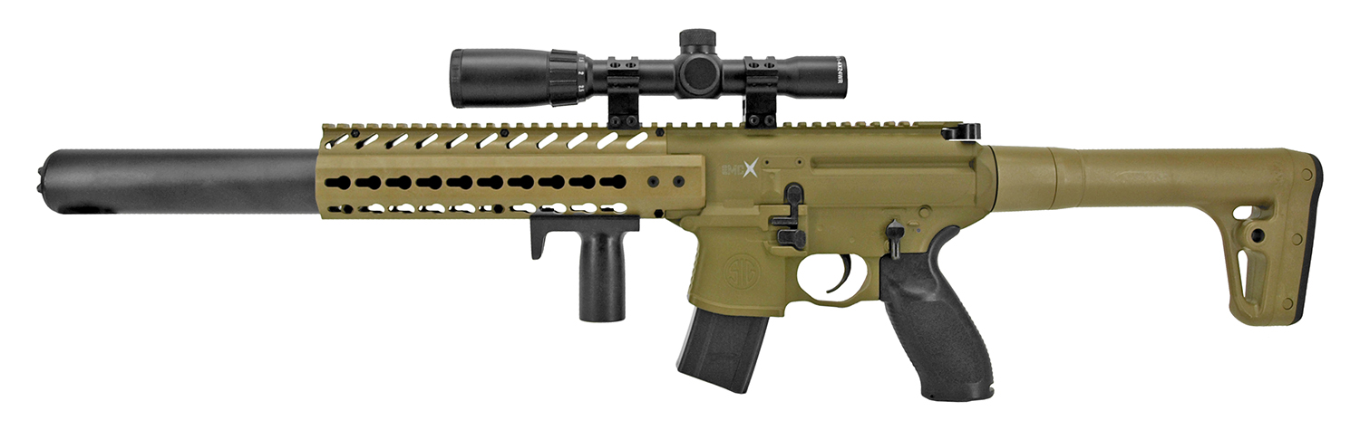 Sig-Sauer Scoped MCX Advanced Sport Pellet CO2 Air Rifle - Desert Tan