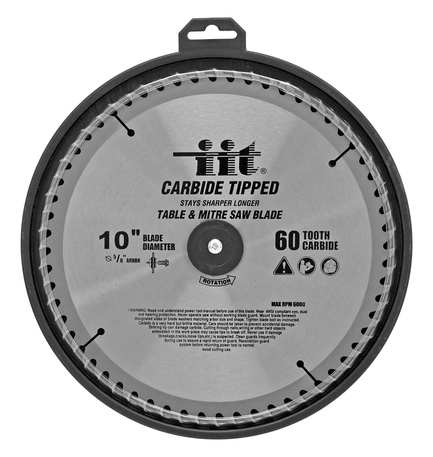 10 in Carbide Tipped 60 Tooth Table and Mitre Saw Blade