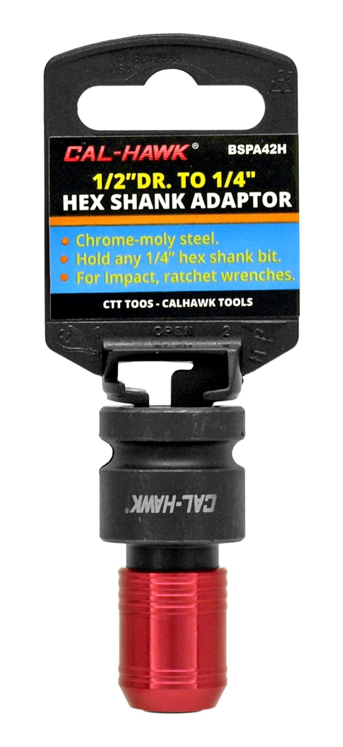 Cal-Hawk 1/2 in Drive to 1/4 in Hex Shank Adapter