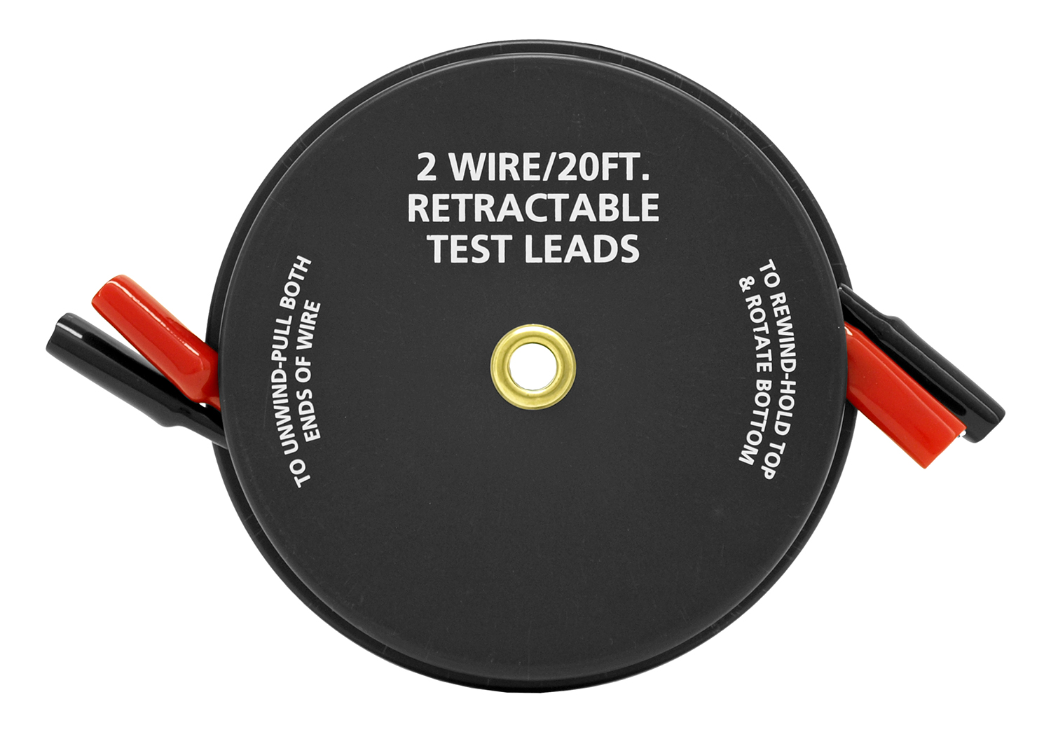 Cal-Hawk 2-Wire/20-ft. 18 AWG Retractable Test Leads