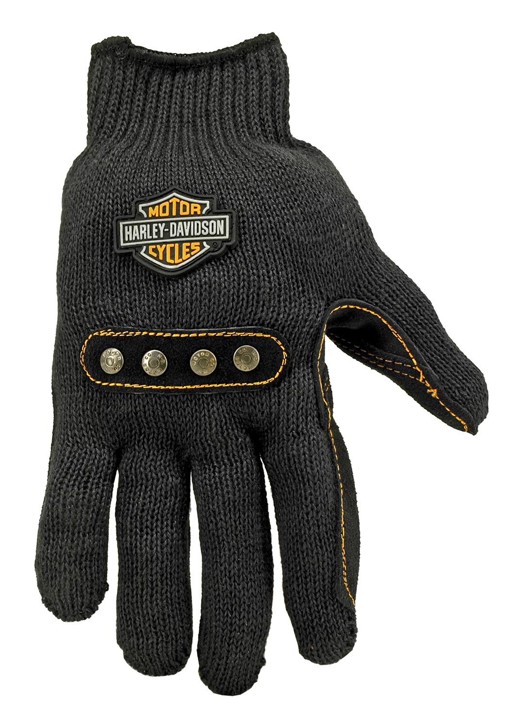 Harley Davidson Kevlar Leather Palm Gloves - Pair