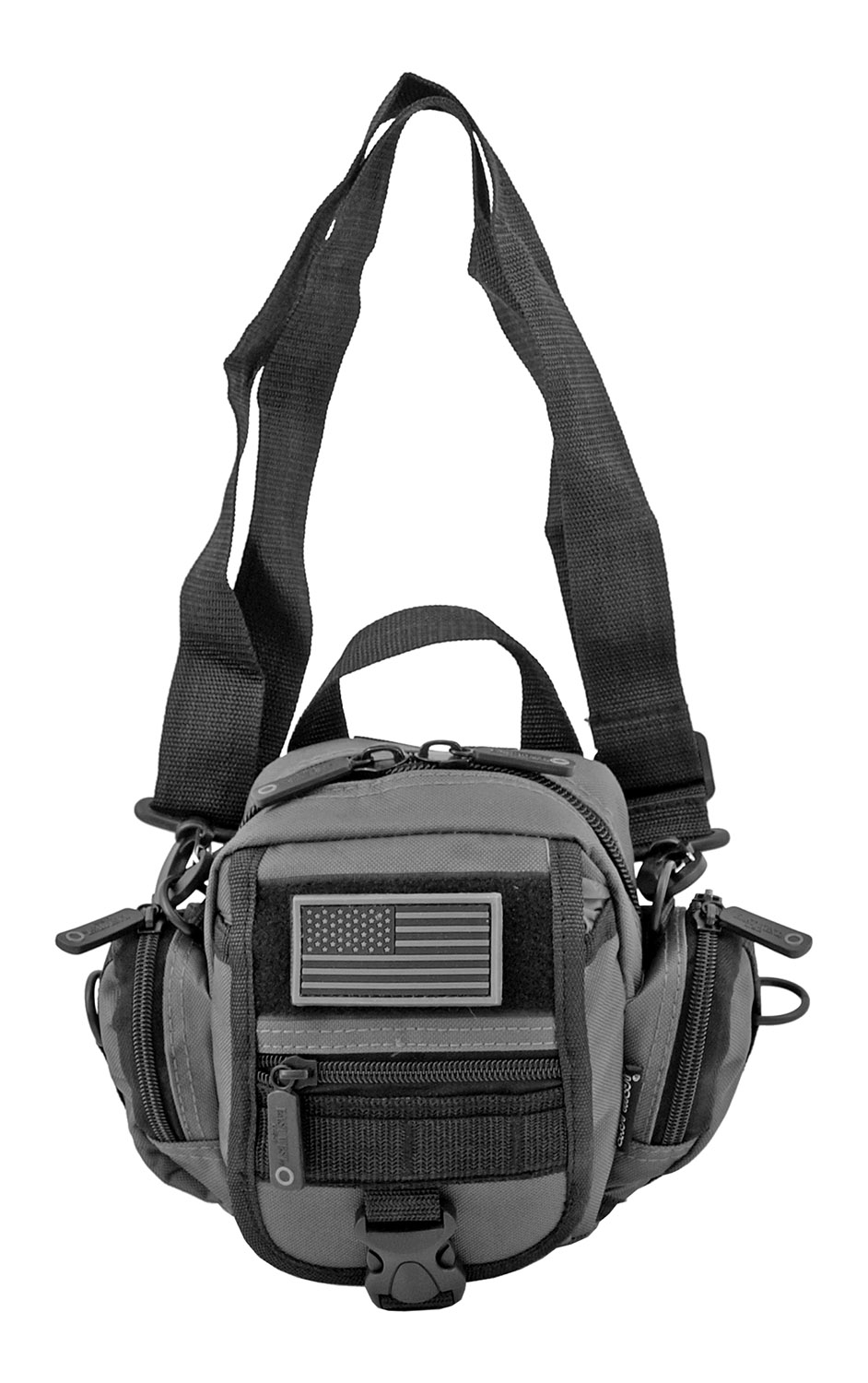 Multi-Functional Tactical Utility Backpack Fanny Pack - Grey