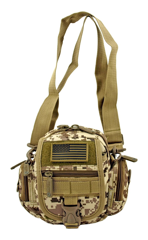 Multi-Functional Tactical Utility Backpack Fanny Pack - Desert Tan Digital Camo