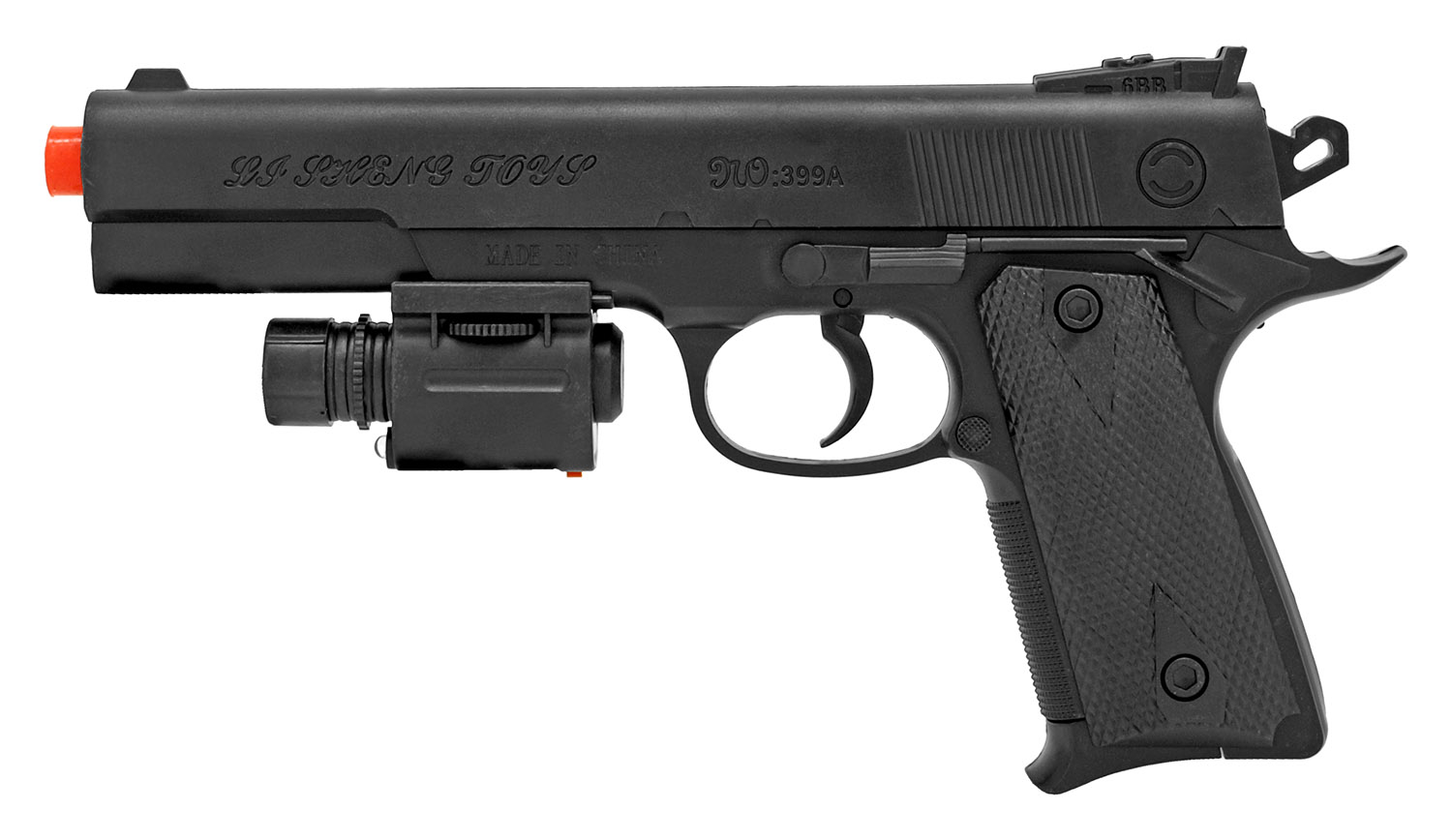 UKArms Spring Powered Airsoft Pistol - Black
